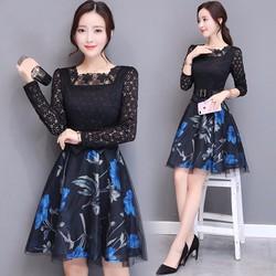 Hàng nhập - Set váy ren dự tiệc Rose Sp01352X