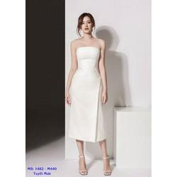 Đầm Ống Thiết Kế Váy Chữ A Đính Ngọc Trai