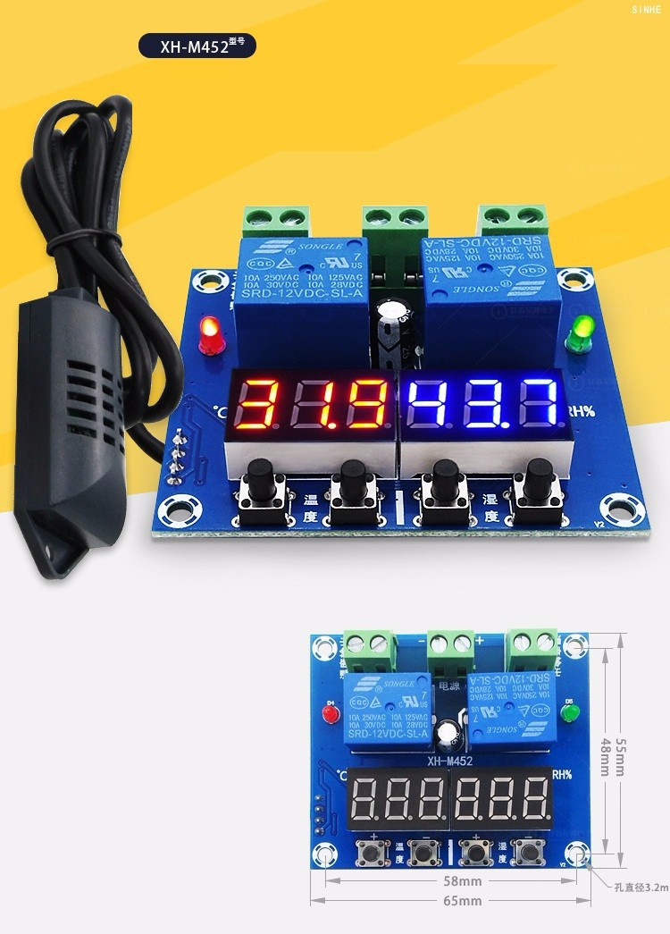 Bộ điều khiển theo nhiệt độ, độ ẩm XH-M452 1