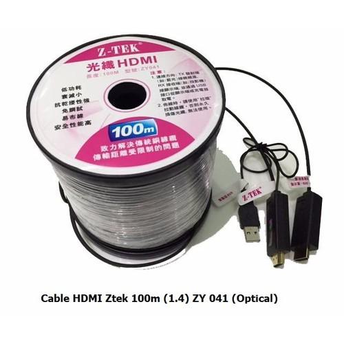 CÁP HDMI Ztek 100m 1.4 ZY 041 Optical