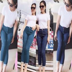 Quần Jeans Nữ Lững Cào Xước