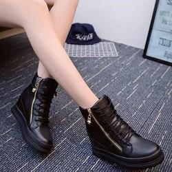 Giày sneaker nữ cổ cao đế độn