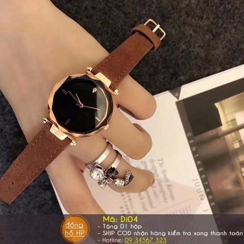 Đồng hồ nữ da lộn cao cấp