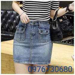 Chân váy jean nữ size