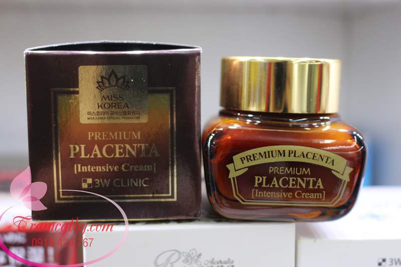Kem dưỡng da chống lão hóa 3W Clinic Premium Placenta Age Repair Cream 3