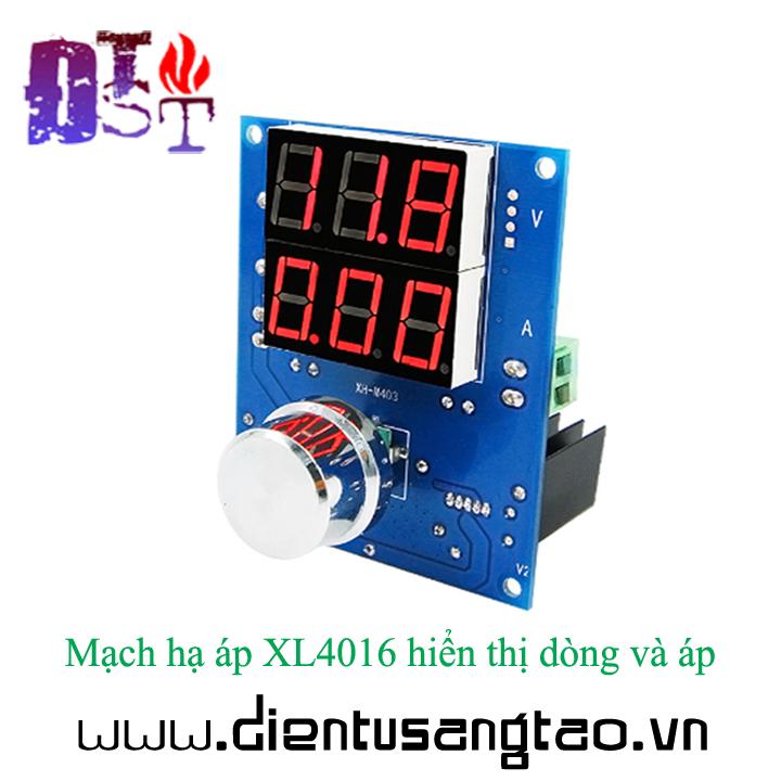 Mạch hạ áp XL4016 hiển thị dòng và áp 1