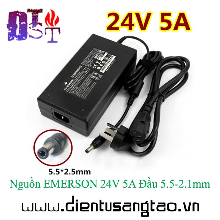 Nguồn EMERSON 24V 5A Đầu 5.5-2.1mm 1