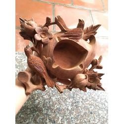 Gạt tàn thuốc gỗ hương ta hình quả đào