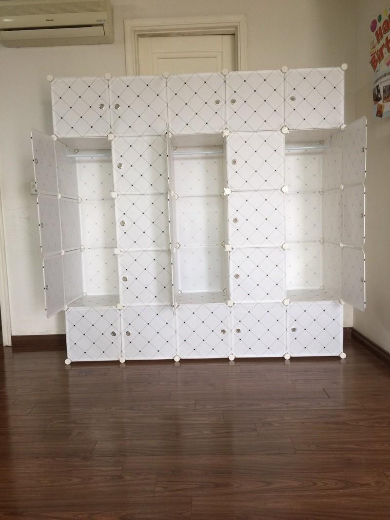 Tủ quần áo nhựa lắp ráp ghép thông minh đa năng 12 ô giá rẻ lá phong 13