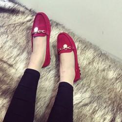 giày mọi nữ chất nhung