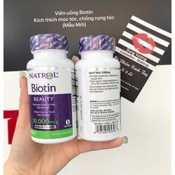 Viên Uống Mọc Tóc Móng Tay Natrol Biotin 10000mcg