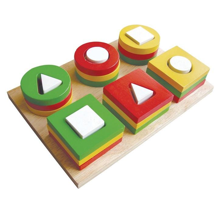 Đồ chơi gỗ Winwintoys 64042 - Bộ xếp 6 cọc