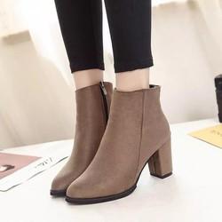 Giày boot nữ dây kéo hàng nhập