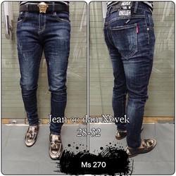 Quần Jeans Nam Xước Nhẹ   MS 270