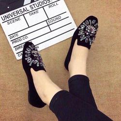 giày mọi nữ kết đá cườm cực xinh