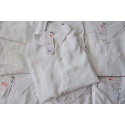 Áo sơ mi trắng nữ tay dài form đơn giản