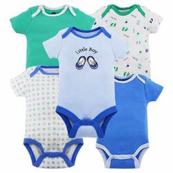 Set 5 body chíp tay ngắn cho bé 0-12 tháng