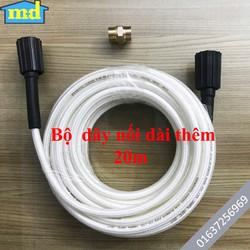 20m dây nối dài thêm cho máy rửa xe áp lực cao + kèm 1 đầu nối