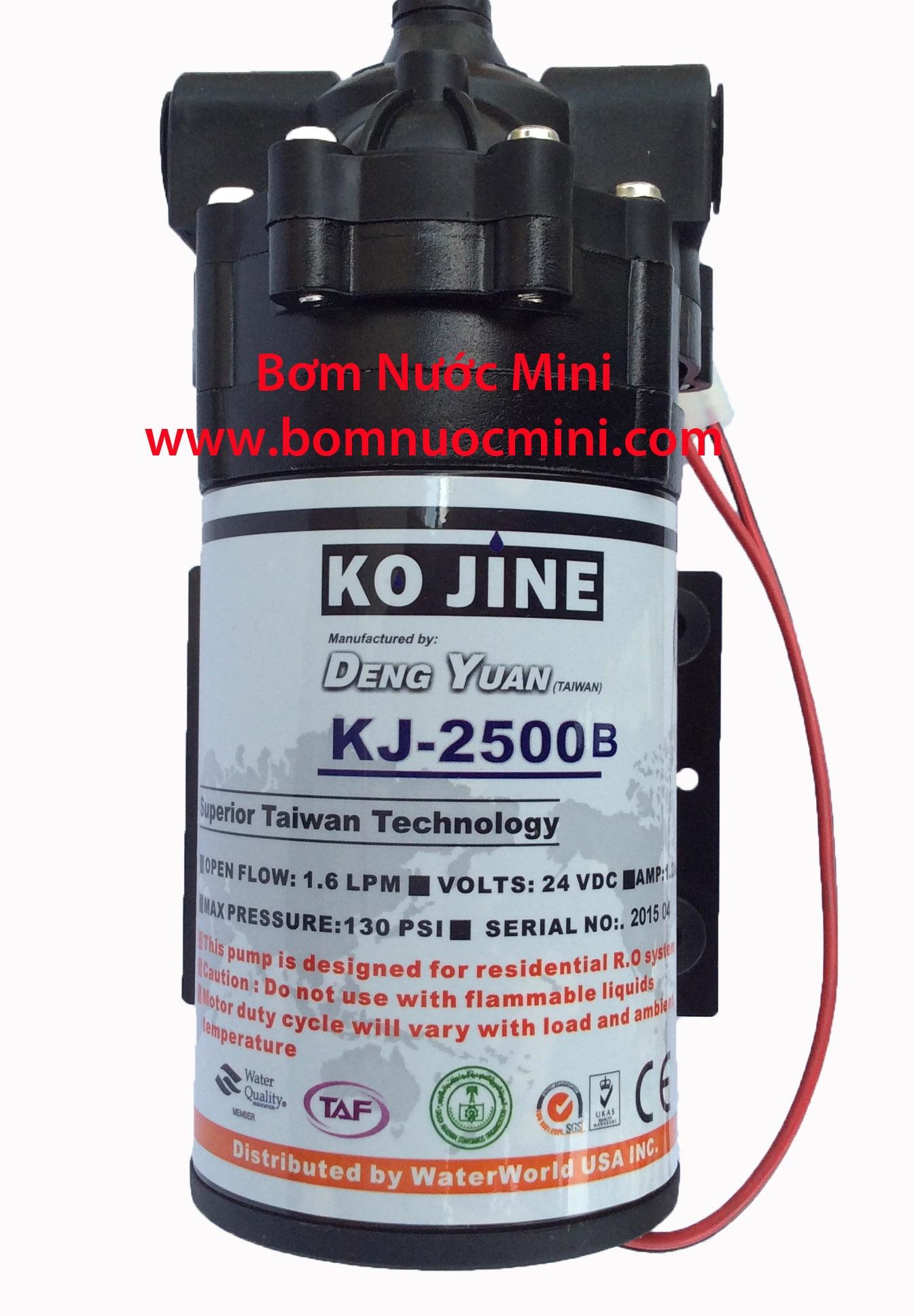 Bơm DENG YUAN KJ-2500B 24V (1,6L/P)