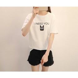 Áo Thun In Chuyển Nhiệt I NEED YOU