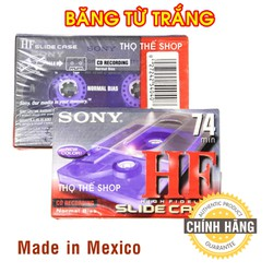 Băng cassette trắng SONY HF 74min FOR CD - Made in Mexico