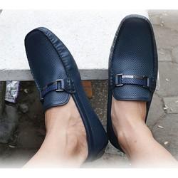 Giày lười, giày mọi nam thương hiệu - màu Xanh