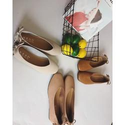 giày bệt nơ quảng châu mũi vuông 4 màu