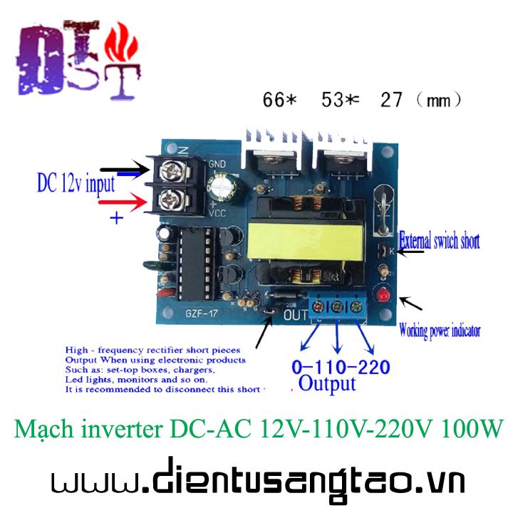Mạch inverter DC-AC 12V-110V-220V 100W 2