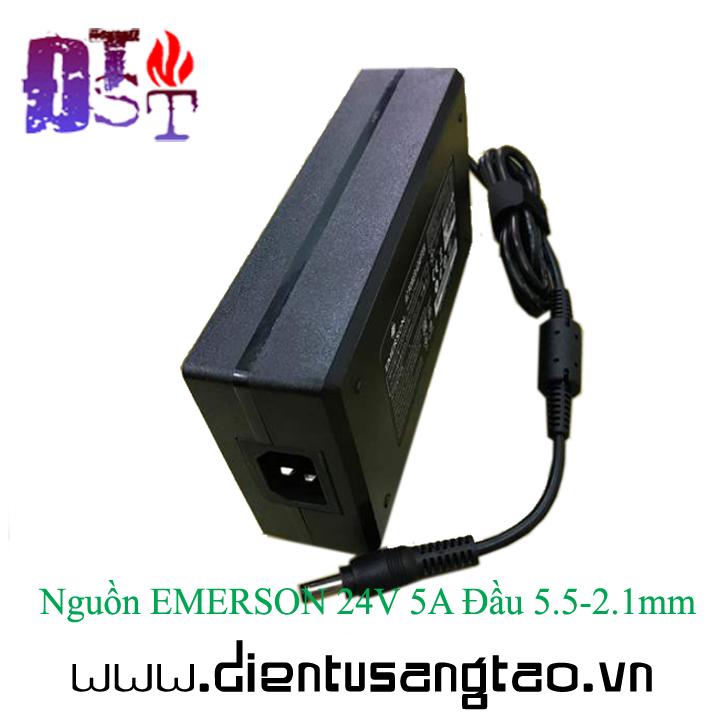 Nguồn EMERSON 24V 5A Đầu 5.5-2.1mm 7