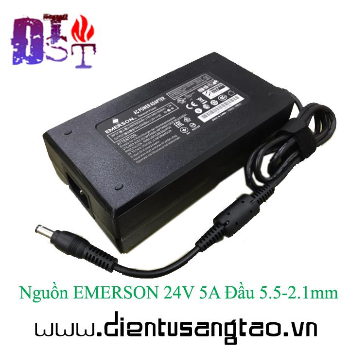 Nguồn EMERSON 24V 5A Đầu 5.5-2.1mm 5