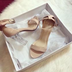 Giày Sandal Cao Gót Đế Trong Suốt
