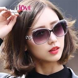 Kính nữ chống nắng oversize gọng kim loại thời trang K9505