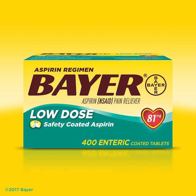 Viên uống Bayer® Low Dose Aspirin 81 mg, 400 viên 3