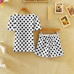 Bộ đồ mặc nhà hoạ tiết chấm bi Hàn Quốc MS018