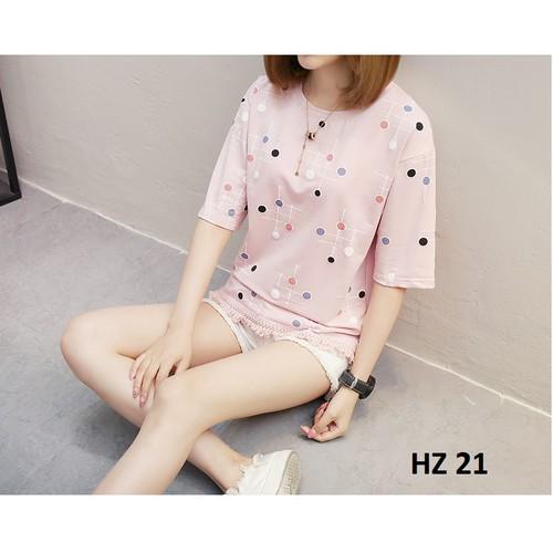 Áo phông hè nữ - hàng nhập - giống hình HZ 20