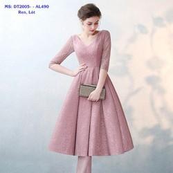 Đầm Xòe Ren Kiểu Cổ Tim Tay Lỡ