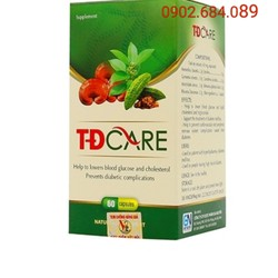 TDCARE - Chai 60 viên - Hỗ trợ điều trị tiểu đường