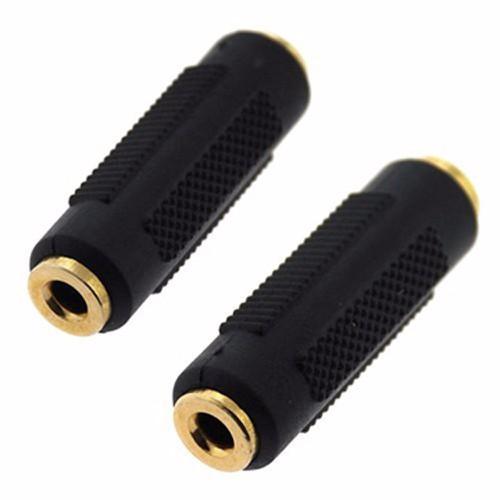 Đầu nối Audio 3.5mm 2 đầu âm vỏ nhựa đen