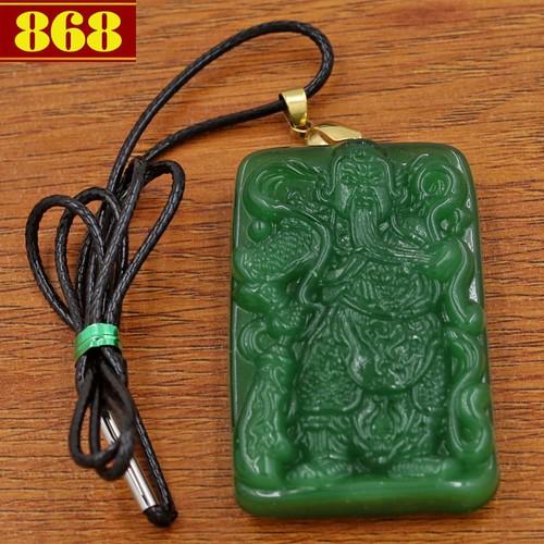 Dây chuyền Quan Công 5.6 cm xanh QC15