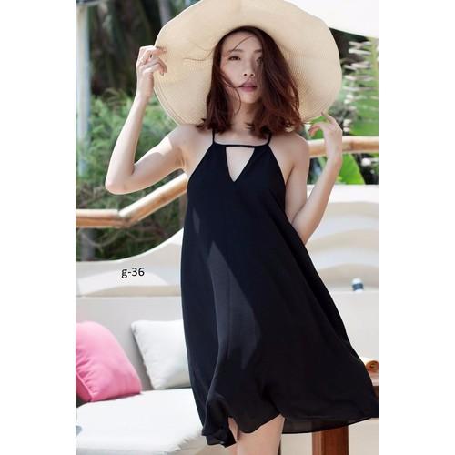 ĐẦM VOAN SUÔNG HỞ LƯNG - dress096G