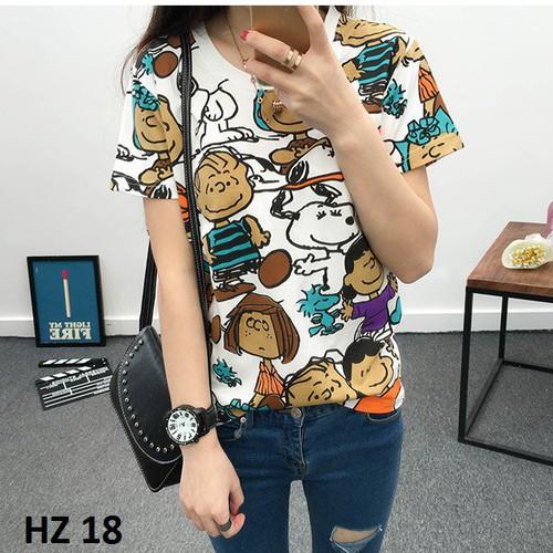 Áo phông hè nữ - hàng nhập - giống hình HZ 18