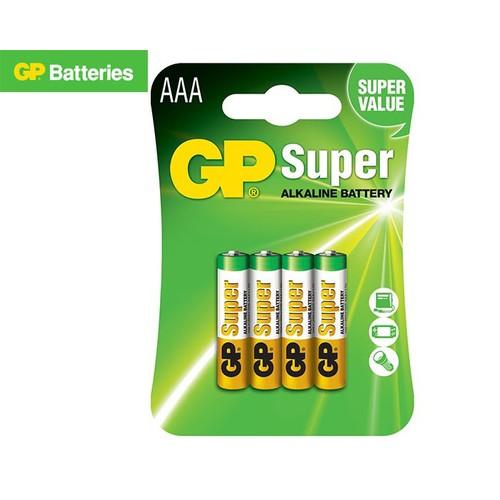 Vỉ 4 viên Pin Super Alkaline GP AAA 1.5V GP24A-2U4
