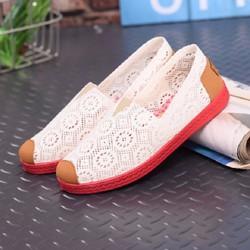 giày Nữ đi biển phối ren cao cấp