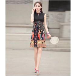 Đầm suông họa tiết xinh xắn