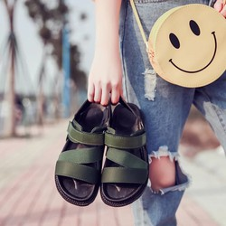 Sandal nữ quai thun