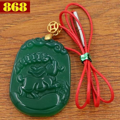Dây đeo cổ tuổi Mão 4.3 cm xanh CG11