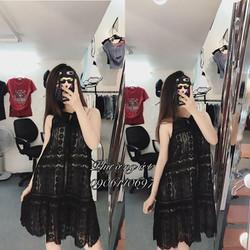 Đầm suông cổ yếm cực xinh - hàng thiết kế