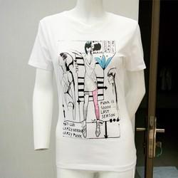 Áo thun in hình cô gái thời trang 3D 110452