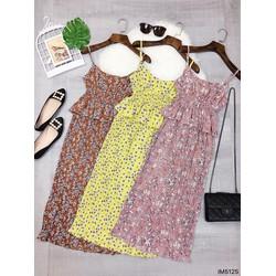 Đầm maxi hoa 2 dây bèo