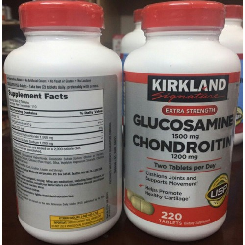 Glucosamine 1500mg và Chondroitin 1200mg 220 Viên - Mẫu mới